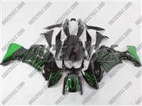 Kawasaki Ninja 650R Green Flame Fairings