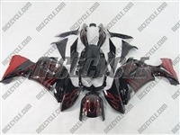 Kawasaki Ninja 650R Red Flame Fairings