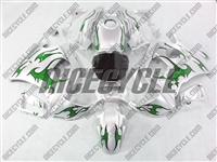 Honda CBR600 F2 Green Tribal/Silver Fairings
