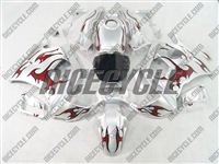 Honda CBR600 F2 Red Tribal/Silver Fairings