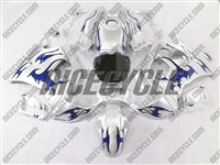 Honda CBR600 F2 Blue Tribal/Silver Fairings