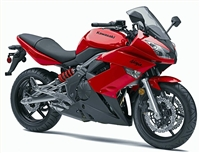 Red Kawasaki Ninja 650R Fairings
