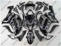 Kawasaki ZX6R White Tribal Fairings