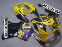OEM Style Purple/Yellow Honda CBR900RR Motorcycle Fairings