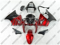 Kawasaki ZX6R Candy Red Fairings
