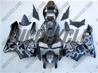 Silver Tribal Razor Honda CBR600RR Motorcycle Fairings