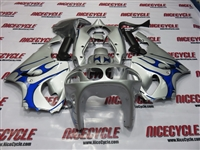 Kawasaki ZX-7R Silver/Blue Tribal Fairings