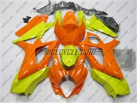 Orange/Yellow Suzuki GSX-R 1000 Fairings