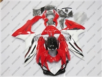 Suzuki GSX-R 600 750 Red/White Fairings