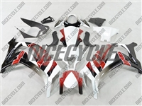 Kawasaki ZX10R OEM Style Red/White Fairings