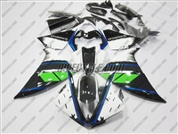 Yamaha YZF-R1 White/Blue/Green Fairings
