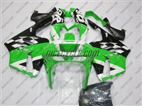 Kawasaki ZX-9R White/Green Checkered Fairings