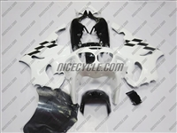 Kawasaki ZX-7R Fairing Checkered Flag White