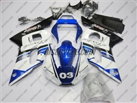 Yamaha YZF-R6 White/Blue Alpinestars Fairings