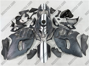 Matte and Racing Stripe Suzuki GSX-R 1300 Hayabusa Fairings