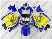 Yellow/Blue Suzuki SRAD GSX-R 600 750 Fairings