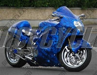 Suzuki GSX-R 1300 Hayabusa Blue Flame Airbrushed Fairings