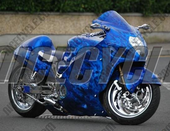 1999 2007 Suzuki GSXR 1300 Hayabusa Blue Flame Airbrushed