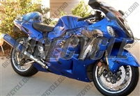 Wicked Blue Airbrushed Suzuki GSX-R 1300 Hayabusa Fairings