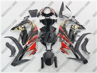 Kawasaki ZX10R Black/Red Fairings