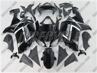 Kawasaki ZX6R Gloss Black Design Fairings