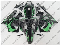 Kawasaki ZX12R Tribal Deep Green Fairings