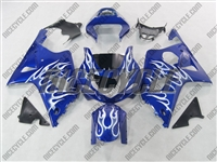 Suzuki GSX-R 1000 Metallic Ice Flames Fairings