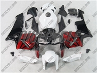 Honda CBR600RR Red/Black/White Fairings