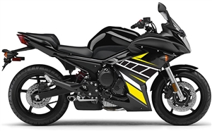 Yamaha FZ6R Yellow/Black Fairings