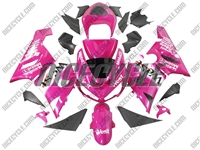 Kawasaki ZX6R Pink West Fairings
