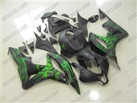 Honda CBR600RR Matte Grafitti Green Fairings