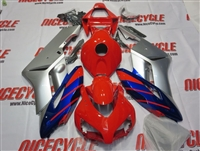 Honda CBR 1000RR Silver/Red/Blue Fairings