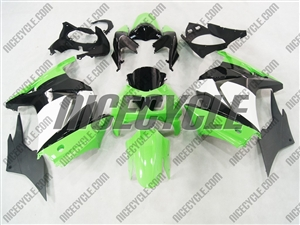 Green/White OEM Style Ninja 250R Fairings