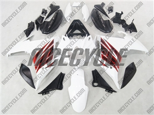 Yamaha FZ6R White/Red Accents Fairings