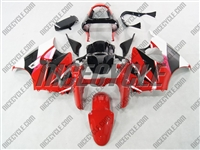 Kawasaki ZX6R Crazy Red/White Fairings