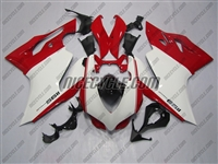 Ducati 1199/899 Panigale White with Red Fairings