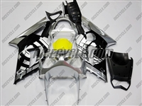 Kawasaki ZX6R Silver/Black Design Fairings