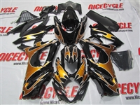 Suzuki GSX-R 1000 Gold Tribal Custom Fairings