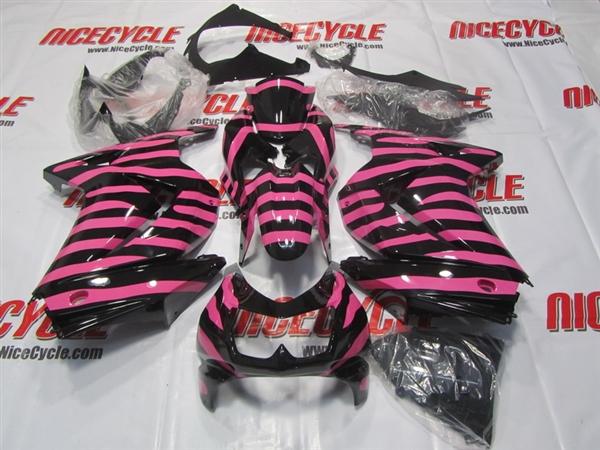 Pink Zebra 2008 2012 Kawasaki Ninja 250R Motorcycle Fairings