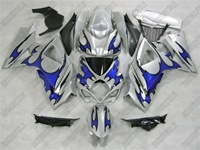 Blue Tribal Suzuki GSX-R 1000 Fairings