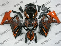Orange Flamed Suzuki GSX-R 1000 Fairings