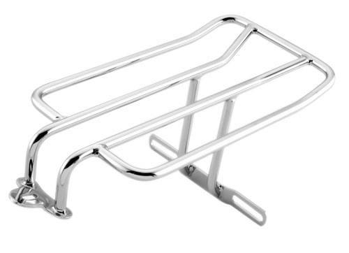 Biker/'s Choice Bobbed Luggage Rack For 2-Up Seats Chrome Harley Davidson Softail