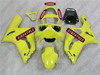 Kawasaki ZX6R Solid Yellow Fairings