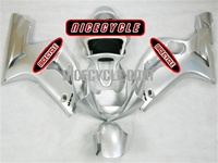 Kawasaki ZX6R Silver Metallic Fairings