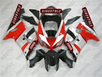Kawasaki ZX6R Black/Silver/Red Fairings