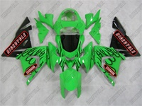 Kawasaki ZX10R Black Flame Fairings