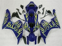 Honda CBR1000RR Blue/Yellow Flames Fairings