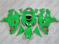 Kawasaki ZX10R Green Flame on Green Fairings