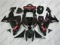 Deep Red Flame Kawasaki ZX10R Fairings