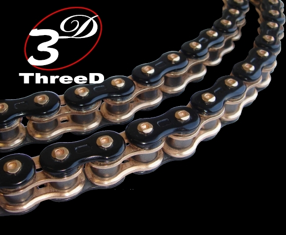 520 x 120 Chrome BikeMaster 520 BMZR Series Motorcycle Chain